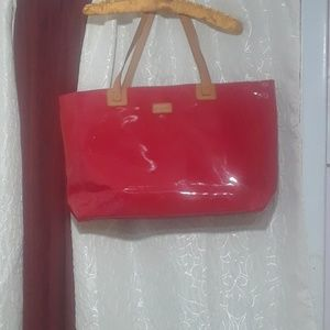 Red Patent Leather Brahmin Tote